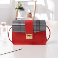 Synthetic Leather Magnetic Lock Luxury Women Shoulder Messenger Bag - Red