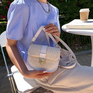 Girls Fashion Crossbody Shoulder Bag - Cream White