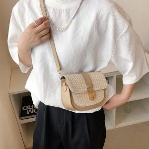 Girls Fashion Crossbody Shoulder Bag - Khaki