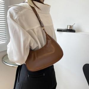 New Fashionable Exquisite Underarm Handbag - Brown