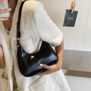 New Fashionable Exquisite Underarm Handbag - Black