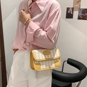 High Quality Latest Purse Straw Shoulder Bags - Yellow
