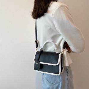 Tide Lock Buckle Elegance Women Shoulder Bag - Black