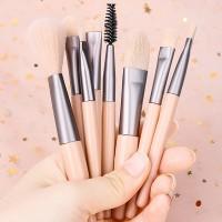 Set Of 8 Pcs Luxury Soft Makeup Brush - Pink