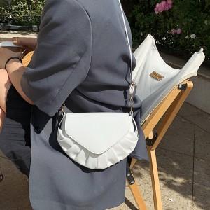 Fashionable Small Chain Dumpling Shoulder Bag - White