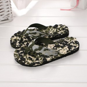 Thick Sole Unisex Solid Color Casual Fashion Slipper - Army Green