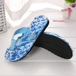 Thick Sole Solid Color Casual Fashion Women Slipper - Sky Blue