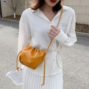 Tiny Luxury Small Soft Wrinkled Dumpling Shoulder Bag - Orange