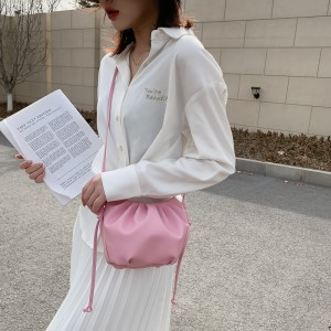 Tiny Luxury Small Soft Wrinkled Dumpling Shoulder Bag - Pink