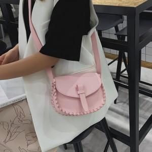 Crossbody Single Shoulder Girls Handbag - Pink