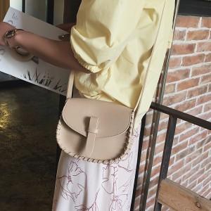 Crossbody Single Shoulder Girls Handbag - Khaki