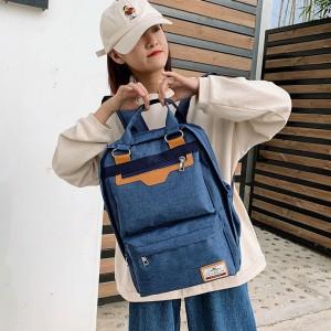 Simple Large Capacity Fashion Leisure Backpack - Blue