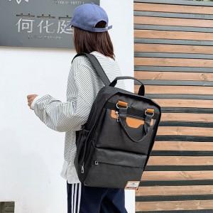 Simple Large Capacity Fashion Leisure Backpack - Black