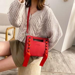 High Quality Luxury Handle Shoulder Bag - Red