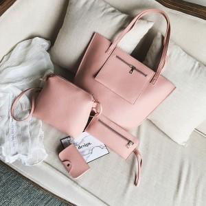 4 Pcs Set Latest Classical Women Fashion Hand Bags - Pink