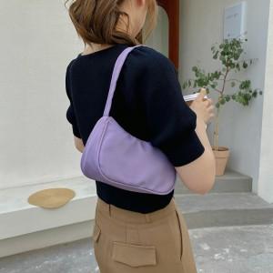 Macaron Candy Lightweight Exquisite Mini Handbag - Purple