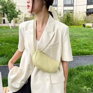 Casual Retro Dumpling Solid Color Vintage Shoulder Bag - Light Green