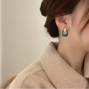 Personality Temperament Simple Earrings - Green