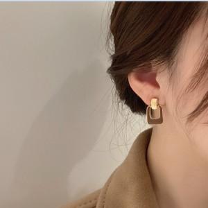 Personality Temperament Simple Earrings - Coffee