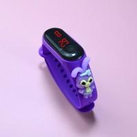 Digital LED Display Plastic Strap Women Sports Watch - Purple