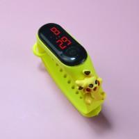 Digital LED Display Plastic Strap Women Sports Watch - Yellow