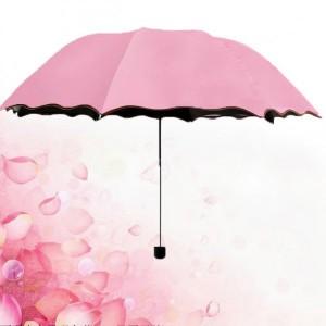 Rain Blossoms Sun Shade Block Umbrella - Light Pink