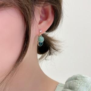 Fresh Versatile Candy Color Earrings - Green