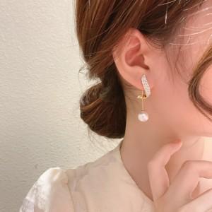 Retro Light Luxury Pearls Earrings - Golden