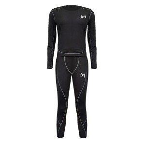 Sports Wear Full Sleeves Two Pieces Suit - Black