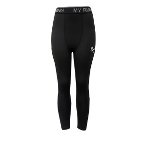 Elastic Waist Gym Sports Fitted Casual Wear Trouser - Black