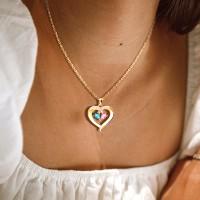 Love Crystal Diamond Pendant Necklace