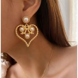 Vintage Hear Shaped Ear Ring Set For Women