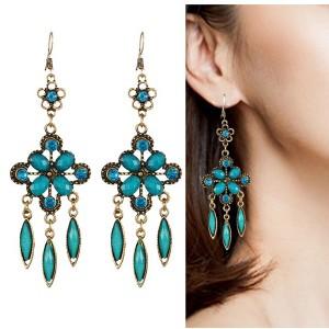 Texture Hollow Long Section Tassel Earrings For Women