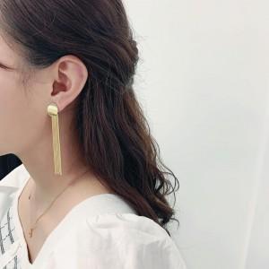 Exaggerated Long Tassels Earrings - Golden