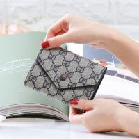 Printed Titch Closure Handheld Money Wallet - Khaki