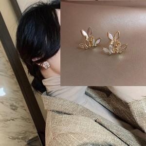 Fashion Smart Butterfly Earrings - Golden