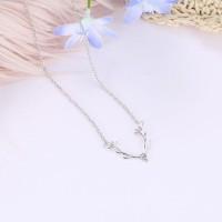 Silver Plated Pendant Women Fashion Pendant Necklace - Silver