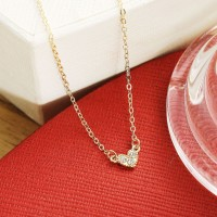 Crystal Braid Gold Plated Necklace - Golden