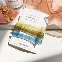Three Pieces High Quality Plastic Hair Catcher Clip Set - Green