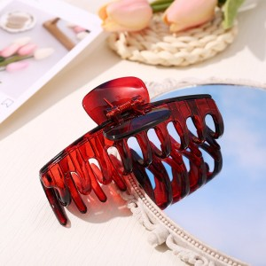 Hair Grooming Flexible Expanding Hair Catcher Clip - Red