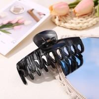 Hair Grooming Flexible Expanding Hair Catcher Clip - Black