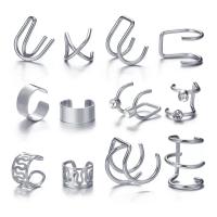 Twelve Pieces Crystal Vintage Design Rings Set - Silver
