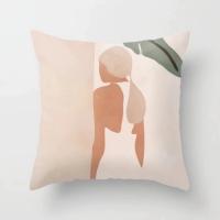1 Piece Lady Design Decorative Cushion Cover
