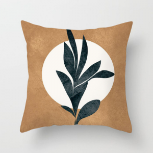 1 Piece Green Leaves Design Decorative Cushion Cover
