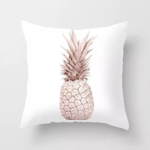 1 Piece Pink Pineapple Design Decorative Cushion Cover