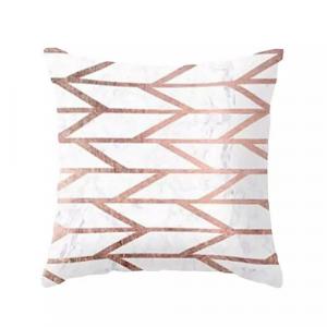 1 Piece Pink Geometric Design Decorative Cushion Cover