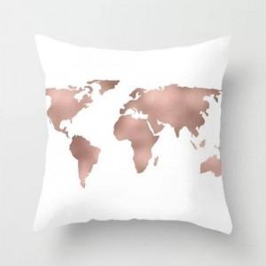 Map Dream Decorative Cushion Cover