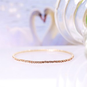 Crystals Patched Extendable Women Fashion Bracelet - Golden