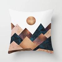 1 Piece Mountain and Sun Design Decorative Cushion Cover