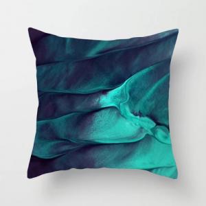 1 Piece Metalic Blue Design Decorative Cushion Cover